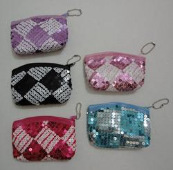 "4.5""X3.5"" Zippered Change Purse [Two-Tone Sequins]"
